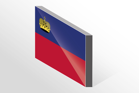 liechtenstein: A 3D Isometric Flag Illustration of the country of  Liechtenstein Stock Photo
