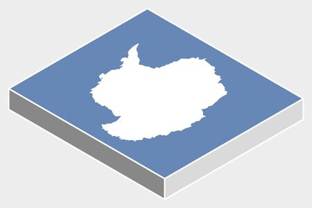 antartica: A 3D Isometric Flag Illustration of the country of  Antartica