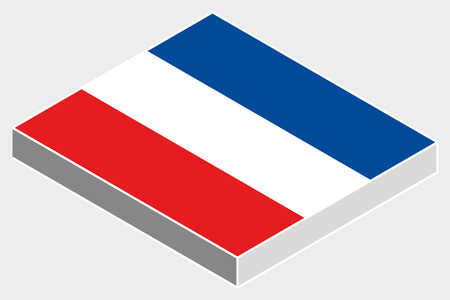 yugoslavia: A 3D Isometric Flag Illustration of the country of  Yugoslavia