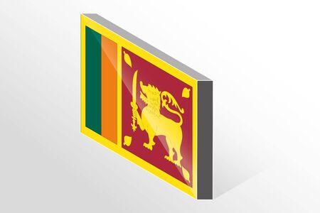srilanka: A 3D Isometric Flag Illustration of the country of  Sri Lanka