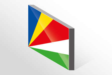 seychelles: A 3D Isometric Flag Illustration of the country of  Seychelles