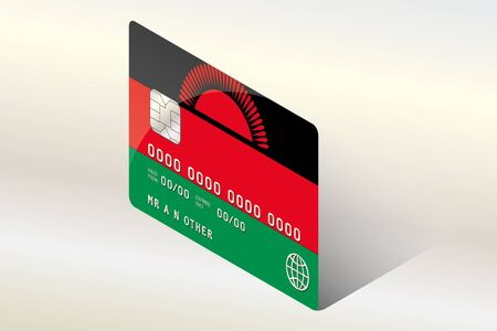technology transaction: A 3D Isometric Flag Illustration of the country of  Malawi