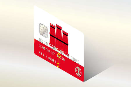 technology transaction: A 3D Isometric Flag Illustration of the country of  Gibraltar Stock Photo
