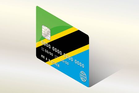 technology transaction: A 3D Isometric Flag Illustration of the country of  Tanzania