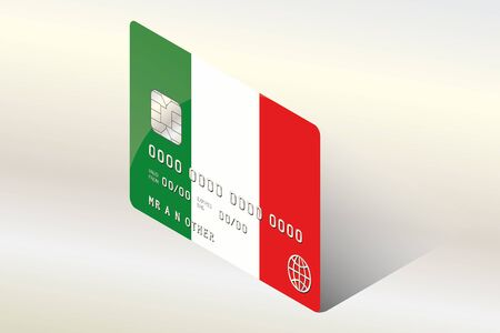 technology transaction: A 3D Isometric Flag Illustration of the country of  Italy Stock Photo