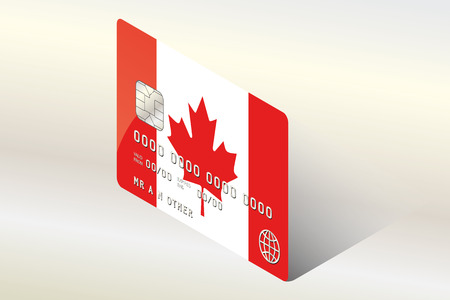 technology transaction: A 3D Isometric Flag Illustration of the country of  Canada Illustration