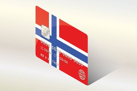 technology transaction: A 3D Isometric Flag Illustration of the country of  Norway