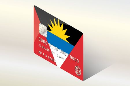 barbuda: A 3D Isometric Flag Illustration of the country of  Antigua and Barbuda