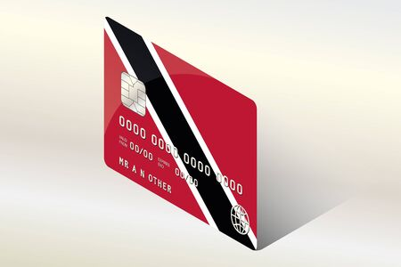 trinidad: A 3D Isometric Flag Illustration of the country of  Trinidad and Tobago