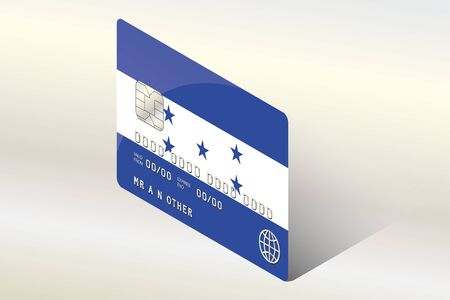 technology transaction: A 3D Isometric Flag Illustration of the country of  Honduras