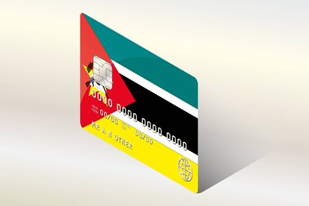 mozambique: A 3D Isometric Flag Illustration of the country of  Mozambique