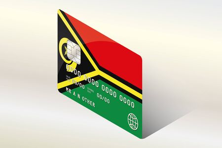 technology transaction: A 3D Isometric Flag Illustration of the country of  Vanuatu