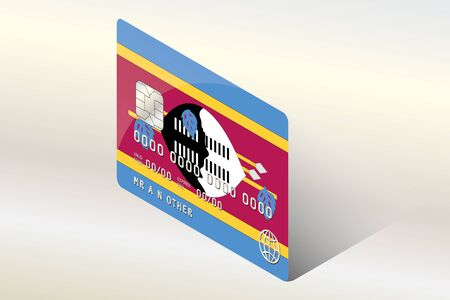technology transaction: A 3D Isometric Flag Illustration of the country of  Swaziland Illustration