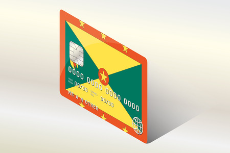 technology transaction: A 3D Isometric Flag Illustration of the country of  Grenada Illustration