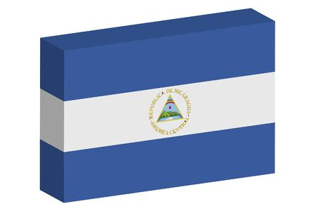 nicaragua: A 3D Isometric Flag Illustration of the country of  Nicaragua