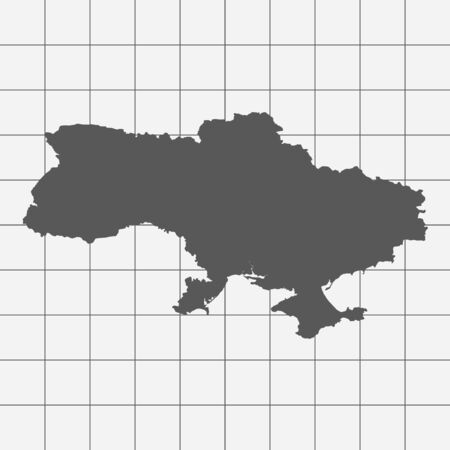 squared paper: Squared Paper with the Shape of the Country of   Ukraine