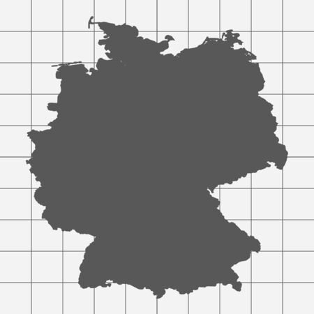 squared paper: Squared Paper with the Shape of the Country of   Germany