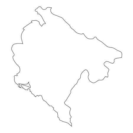montenegro: A High detailed Outline of the country of  Montenegro
