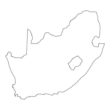 africa outline: A High detailed Outline of the country of  South Africa