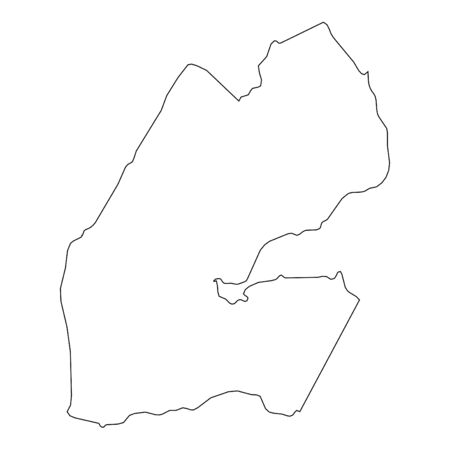 djibouti: A High detailed Outline of the country of  Djibouti