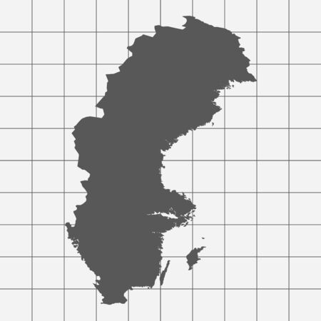 squared paper: Squared Paper with the Shape of the Country of   Sweden
