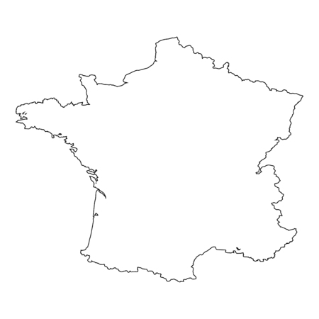 contours: A High detailed Outline of the country of  France Illustration