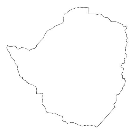 zimbabwe: A High detailed Outline of the country of  Zimbabwe