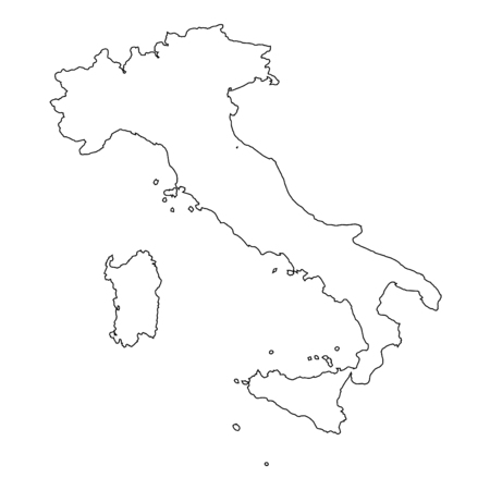 high detailed: A High detailed Outline of the country of  Italy