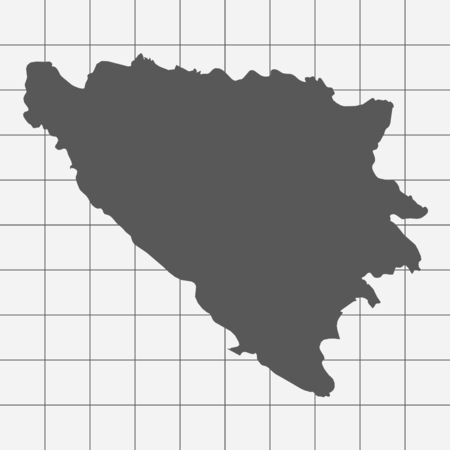 squared paper: Squared Paper with the Shape of the Country of   Bosnia