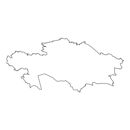 high detailed: A High detailed Outline of the country of  Kazakhstan