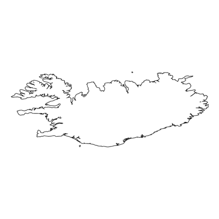 greenland: A High detailed Outline of the country of  Greenland Illustration