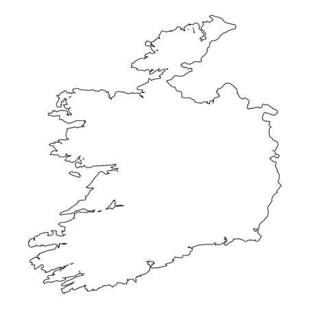 high detailed: A High detailed Outline of the country of  Ireland