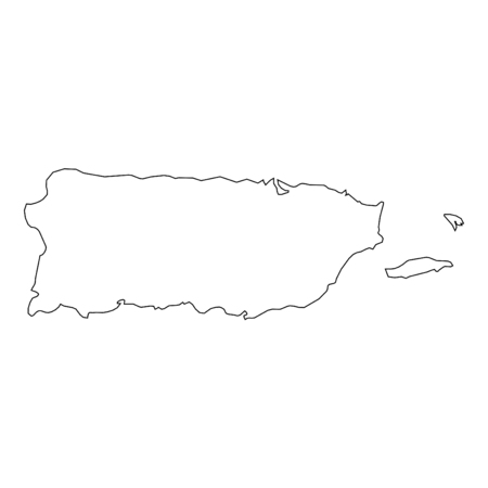 A High detailed Outline of the country of Puerto Rico