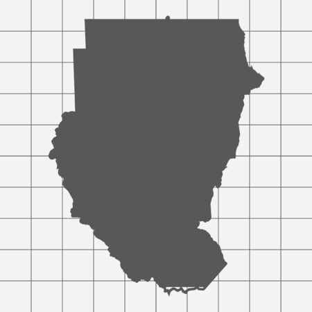 sudan: Squared Paper with the Shape of the Country of   Sudan
