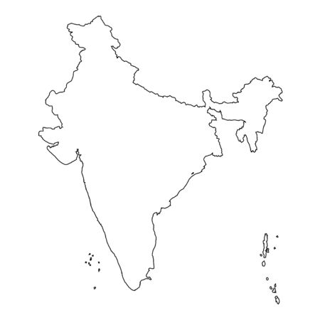 high detailed: A High detailed Outline of the country of  India Illustration