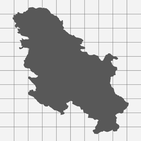 squared paper: Squared Paper with the Shape of the Country of   Serbia