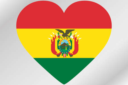 design media love: A Flag Illustration of a heart with the flag of  Bolivia Stock Photo