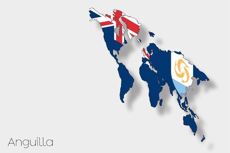 anguilla: A 3D Isometric Flag Illustration of the country of  Anguilla Stock Photo