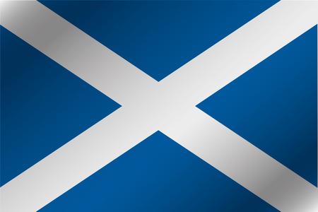 スコットランドの国の 3 D 波状旗イラスト 写真素材