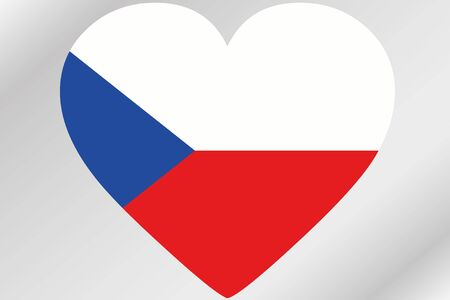 A Flag Illustration of a heart with the flag of  Czech Republic