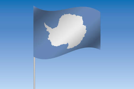 antartica: A 3D Flag Illustration waving in the sky of the country of  Antartica