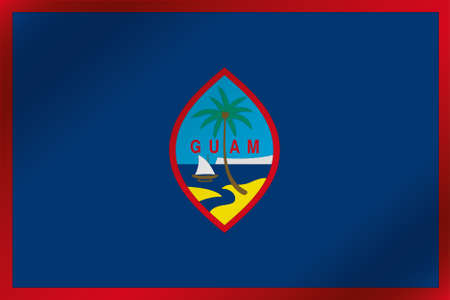 guam: A 3D Wavy Flag Illustration of the country of  Guam Stock Photo