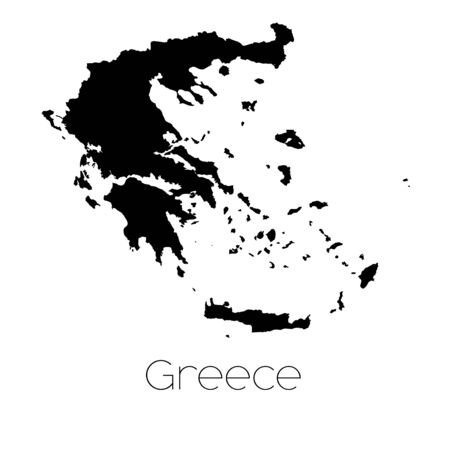 greece: A Country Shape isolated on background of the country of Greece Stock Photo