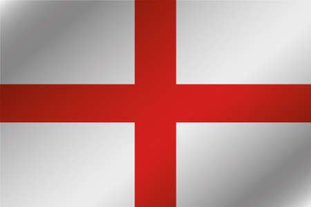 england politics: A 3D Wavy Flag Illustration of the country of  England