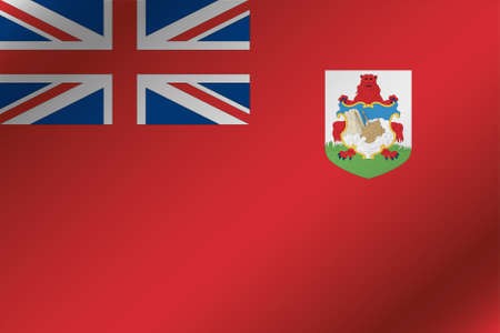 bermuda: A 3D Wavy Flag Illustration of the country of  Bermuda