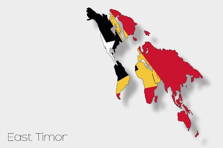 timor: A 3D Isometric Flag Illustration of the country of  East Timor Stock Photo