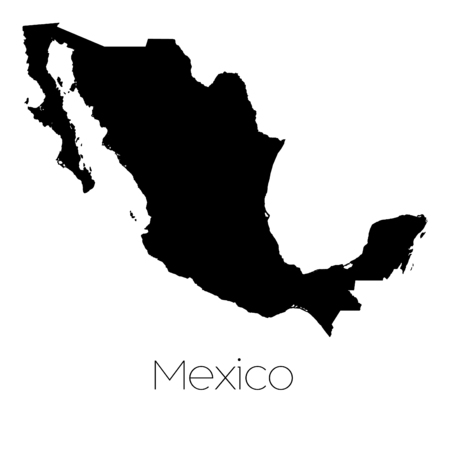 mexico: A Country Shape isolated on background of the country of Mexico