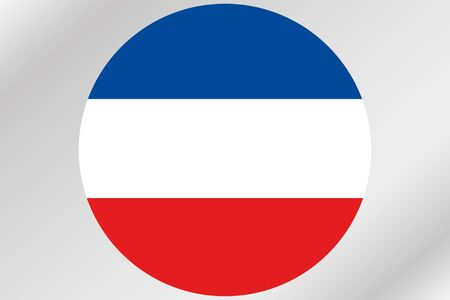 yugoslavia: A Flag Illustration within a circle of the country of  Yugoslavia Stock Photo