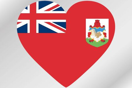 bermuda: A Flag Illustration of a heart with the flag of  Bermuda