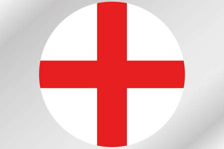 england politics: A Flag Illustration within a circle of the country of  England Stock Photo